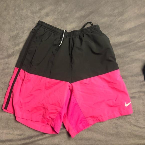 pink nike swim trunks